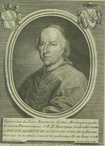 Portrait of Cardinal Raniero D'Elci, Archbishop of Rodi. Nicolaus after Nelli Billy