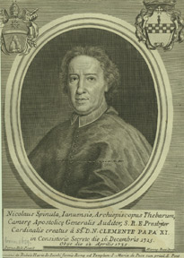 Portrait of Cardinal Nicolò Spinola, Archbishop of Tebes, obit. 1735. Hieronymus after Nelli Rossi