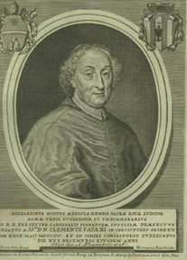 Portrait of Cardinal Bernardino Scotti, Governor of Rome, obit. 1726. Hieronymus after Nelli Rossi