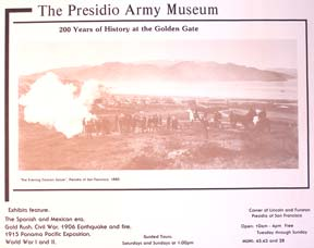 200 Years of History at the Golden Gate. Presidio Army Museum