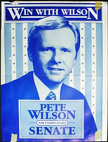 Win With Wilson. Pete Wilson for United States Senate. Pete Wilson