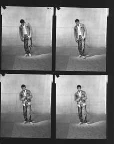 Branding Campaign, 501 Jeans, Nineteen Contact Sheets of full-body shots. Levi Strauss, Co, Calif...