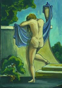 Untitled Oil (Nude at Wall). Allen Bennett, a. k. a. Allen Pencovic