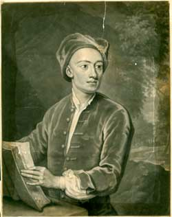 Young man with Book. Mezzotint artist