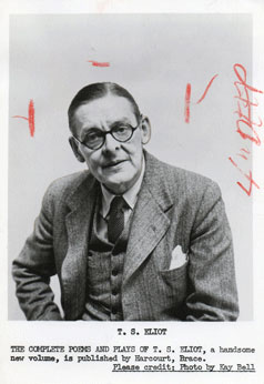 T. S. Eliot. The Complete Poems and Plays of T. S. Eliot, a handsome new volume, is published by...