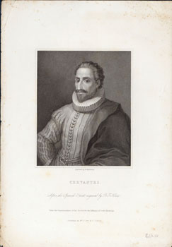 Cervantes. After the Spanish print engraved by D. F. Selma. Under the supervision of the Society...