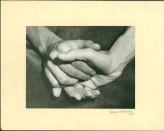 Black and white photograph of clasped hands]. Mark L. Haberman
