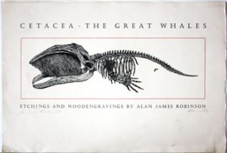 Title Page from] Cetacea--The Great Whales [inscribed]. Alan James Robinson