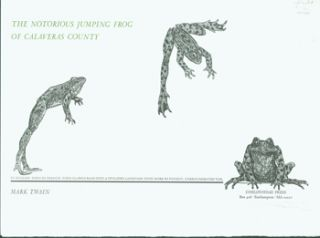 Title Page from] The Notorious Jumping Frog of Calaveras County. Mark Twain, Alan James Robinson