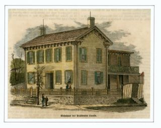 Wohnhaus des Prasidenten Lincoln (Home of President Lincoln). Anonymous artist