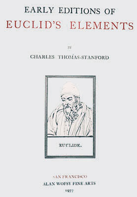 Early Editions of Euclid's Elements. Charles Thomas-Stanford