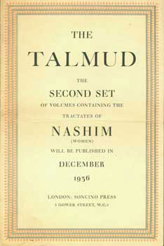 Prospectus For The First Complete and Unabridged English Translation of The Talmud. The Second...