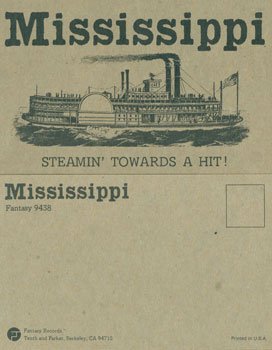 Mississippi: Publicity Postcard for Fantasy Records. Fantasy Records, New York