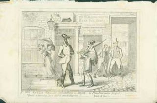 Anglo-Gallic Salutations in London - or, Practice Makes Perfect. George Cruikshank