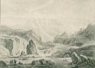 Der Elbrus Im Kaukasischen Gebirge (Mount Elbrus in Caucasian mountains). 19th Century German Artist