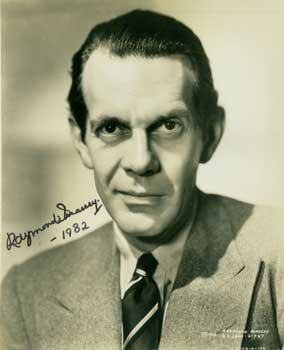 Publicity Photograph for United Artists, Signed & Dated by Raymond Massey. United Artists Corp.,...