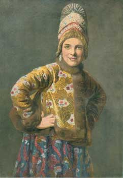 Russisches Bauernmadchen (Russian Peasant Girl). Richard Bong, R. B. Wenig