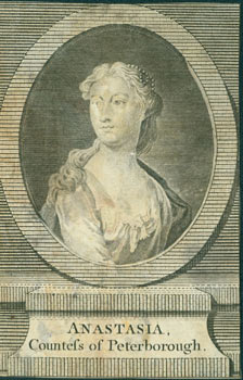 Anastasia Countess of Peterborough. Copper Line engraved for the Universal Magazine for J. Hinton...