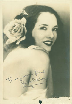 Autographed Publicity Photograph of Silent Film Star Lupe Velez. Pathe Exchange, Melbourne SPU,...