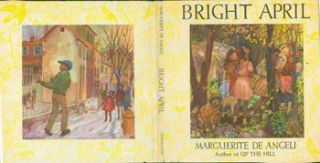 Dust Jacket only for Bright April. Marguerite De Angeli
