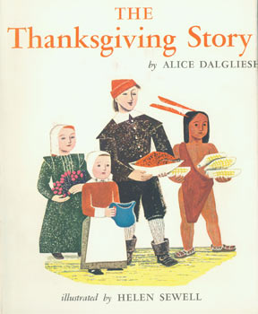 Dust Jacket only for The Thanksgiving Story. Alice Dalgliesh, Helen Sewell, illustr