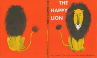 Dust Jacket only for The Happy Lion. Louise Fatio, Roger Duvoisin, illustr