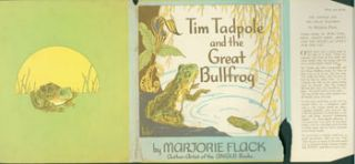 Dust Jacket only for Tin Tadpole And the Great Bullfrog. Marjorie Flack