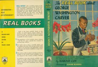 Dust Jacket only for The Real Book About George Washington Carver. Harold Coy, Elinore Blaisdell,...