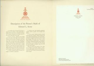Description Of a Printer's Mark. With A Specimen Letterhead of a Widely-Known Typographer,...