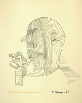 Old Man Reckoning: After Paul Klee. R. Berner