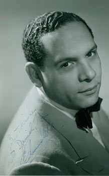 Signed Photograph of bandleader Edmundo Ros. David Bacon Collection, Zanton, Photography