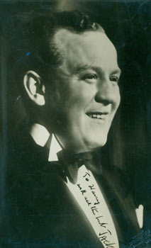 Signed Photograph of Jack Hylton. Original autograph. David Bacon Collection, S. Georges, London...