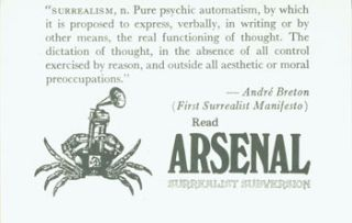"""Surrealism, n. Pure psychic automatism, by which it is proposed to express, verbally, in writing..."
