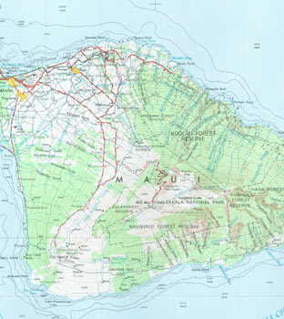 Maui, Hawaii. NF 4-16. United States Geological Survey, United States Department of the Interior