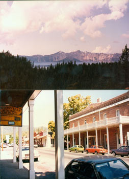 Two Color Photographs of Jacksonville, Oregon & Crater Lake. 20th Century American Photographer