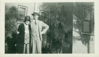 Joaquin Nin Culmell with unidentified woman [his mother, Rosa Culmell?]. 20th Century American...