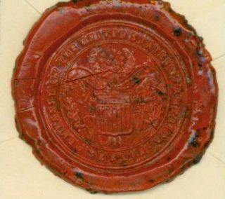 Stamped Wax Seal for the Embassy of the United States of America, Berlin. Berlin Embassy of the...
