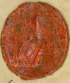 Stamped Wax Seal for Frederick Augustus I of Saxony (1750 - 1827). Frederick Augustus I. of Saxony