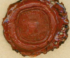 Stamped Wax Seal for Freiherr von Keyserlingk. Freiherr von Keyserlingk