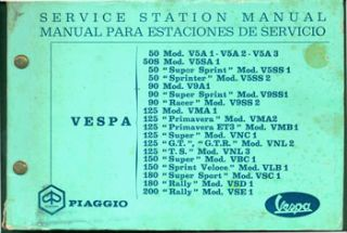 Vespa Service Station Manual. Vespa, Piaggio