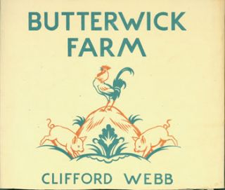 Dust Jacket for Butterwick Farm. Clifford Webb