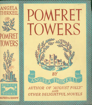 Dust Jacket for Pomfret Towers. Front Panel of Dust Jacket only. Angela Thirkell