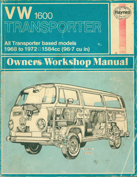 VW Transporter 1600 : all models based on the 1584 cc (96.7 cu.in) : Transporter 1968 to 1972....