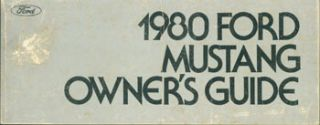 1980 Ford Mustang Owner's Guide.