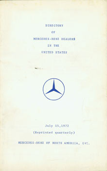 Directory of Mercedes-Benz Dealers in the United States. Daimler-Benz AG, Mercedes-Benz of North...