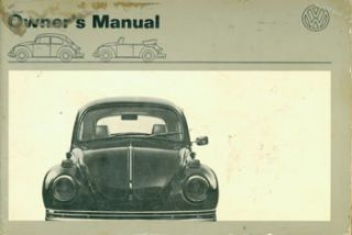 Volkswagen Owner's Manual. 1971 Models. Volkswagenwerk, Germany Braunschweig