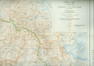 Topographic Map of Yosemite National Park, California. Professional Paper 160. Plate 2. United...
