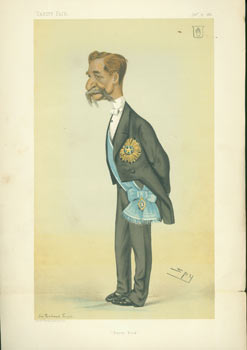 Burra Dick. Sir Richard Temple. January 15, 1881. Vanity Fair, Leslie Ward, UK London, illustr