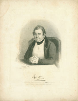 Joseph Hume [Autograph Facsimile]. Presented to the Subscribers to the News, April 22, 1838....