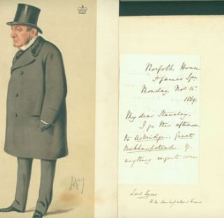Collection of material related to Lord Lyons: chromolithograph and letter with original autograph...